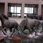 Running Mustangs, sculpture of Las Colinas in Irving, Texas