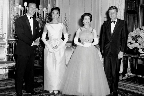 Prince Philip and The Queen with U.S. President John F. Kennedy and his wife, Jackie, in 1961