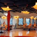 The Red Sea Star Bar in Eilat, Israel, located 6 meters under the sea, offering inspiring views of fish, coral and other creatures