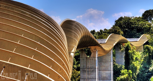 Awesome bridge, known as Henderson Waves