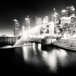 Fountain in the night city. Work by Urban photographer Martin Stavars