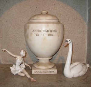 Urn with Anna Pavlova's ashes