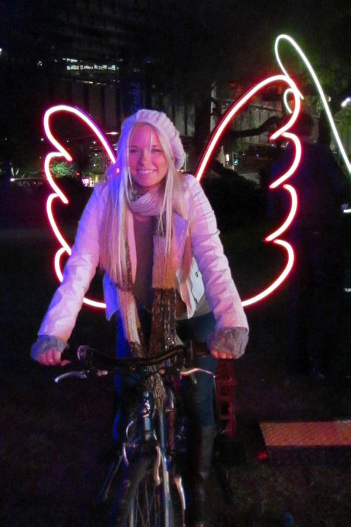 Be an angel. Festival of Light 'Vivid Sydney'