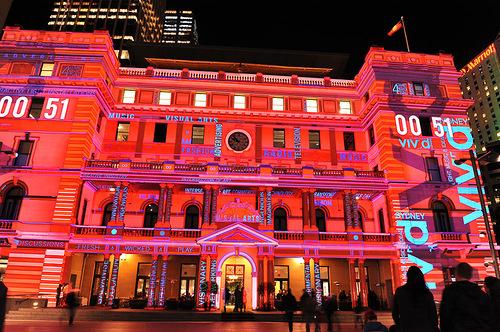 Scarlet building. 'Vivid Sydney'
