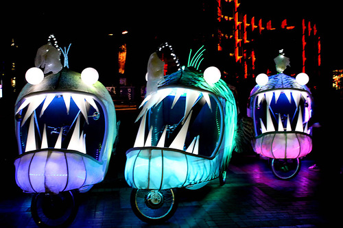 Transformated bikes. Festival of Light 'Vivid Sydney'