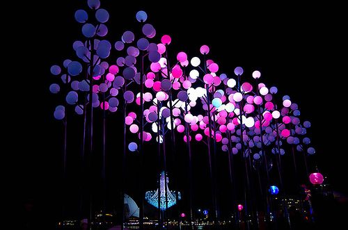Electric Garden installation, in The Royal Botanic Garden, Vivid Sydney