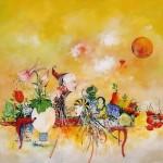 Surrealist painter Francois Boucheix