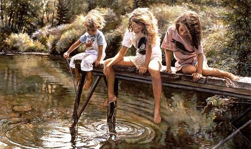 Emotional realism in paintings by American artist Steve Hanks