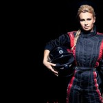 Beautiful racing driver Natalie Freidina