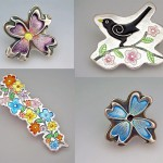 Four brooches