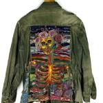 Skeleton. Textile art by Canadian artist Richard Preston