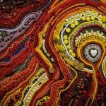 Colorful Textile art by Canadian artist Richard Preston