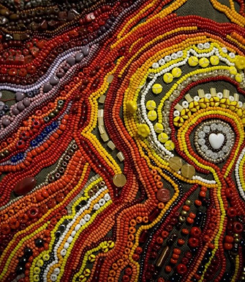 Colorful Textile art by Canadian artist Richard Preston