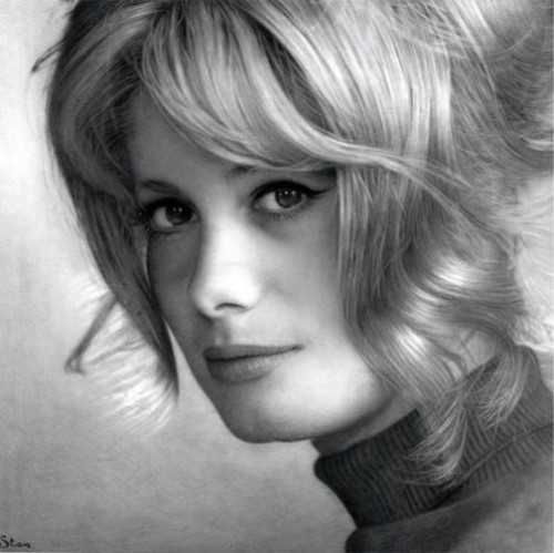 Catherine Deneuve. Photorealistic Pencil Drawings by Stan Bossard