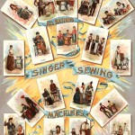 Singer sewing machines poster 1892