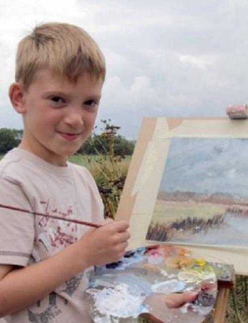 Nine-year-old artist millionaire Kieron Williamson
