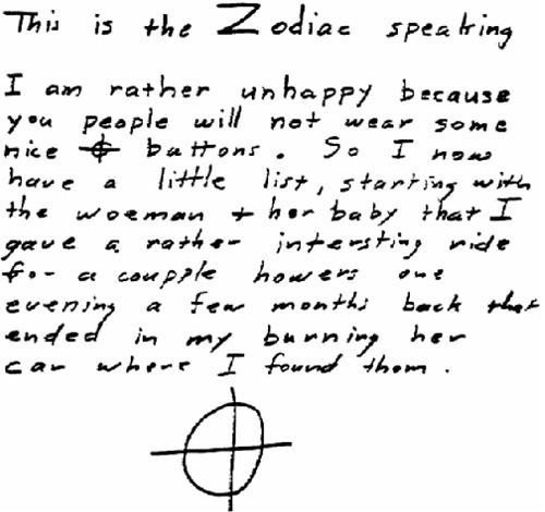 The Zodiac letters