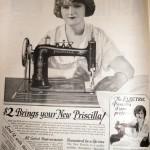 Vintage ads Priscilla sewing machine
