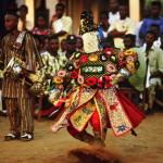 Dancing Egungun spirits of Yoruba clan