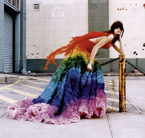 McQueen's Rainbow Dress