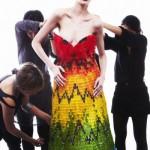 Hiss Igrashi and Sayuri Murakami jelly bears dress - a tribute to creativity of Alexander McQueen