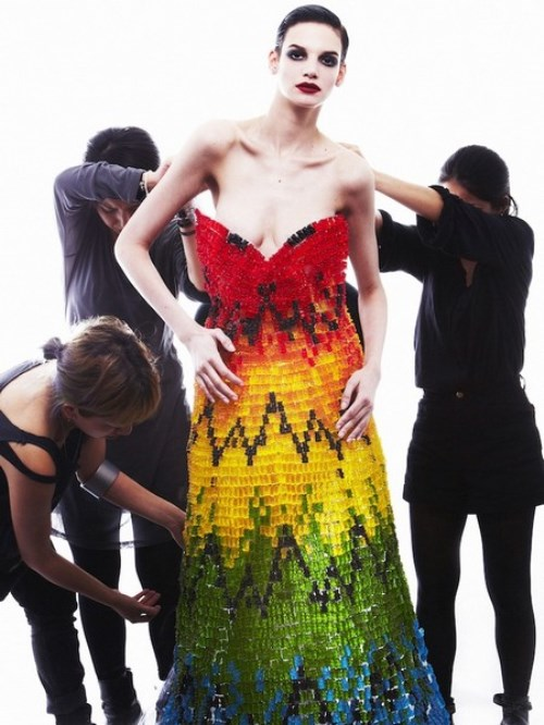 Hiss Igrashi and Sayuri Murakami jelly bears dress - a tribute to creativity of Alexander McQueen