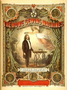 The Howe sewing machine vintage poster