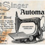 The Singer automatic sewing machine ads