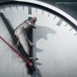 Seal on the clock. 5 To 12 - Peppermill designs for B.U.N.D. eV environmental organization, Germany