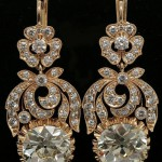 Gold earrings with natural diamonds. Total weight of diamonds 3.18 carats, the starting price - $245,000
