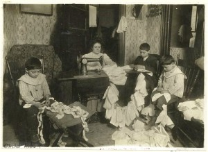 Sewing work at home (1900-1937)