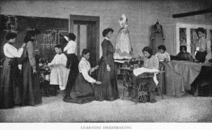 Learning dressmaking. (1904)
