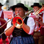 Musicians perform at the annual Steuben Parade in Manhattan, New York, USA. Steuben Parade is dedicated to German-American culture and is considered a symbol of friendship between the two countries