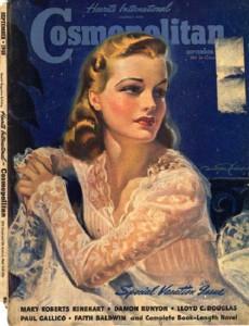 International magazine for women 'Cosmopolitan', 1940