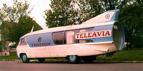 Teleavia promotional bus