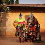 "Ouidah, Benin, January 9, 2012. Spirit ""Egungun"" - one of the voodoo ceremonies"