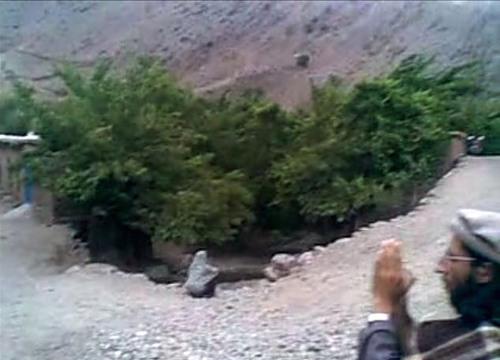 Helpless Afghan woman