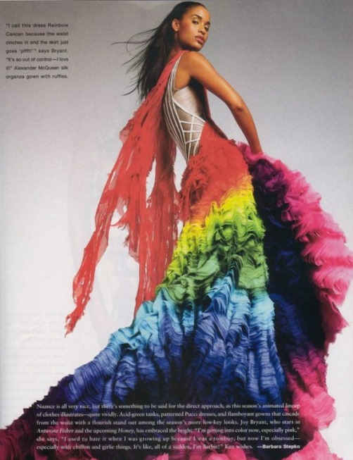 Joy Bryant Rainbow dress