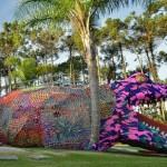 Crocheted Alligator Playground by Olek