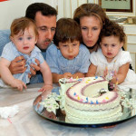 Rest in the mountains. Bashar Hafez Al-Assad with his family