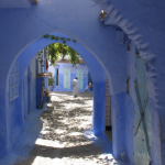 Arches - a detail of architecture of Chefchaouen in Morocco