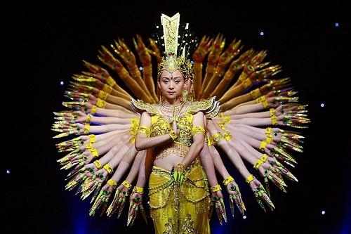 Thousand-hand Bodhisattva dance