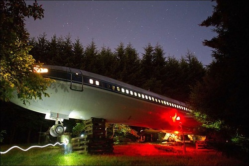 Boeing 727 turned into the house by Bruce Campbell