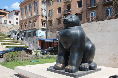 Fat Cat monument in Armenia