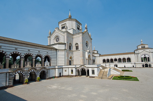 Stunning cemetery Chimitero Monumental in Milan