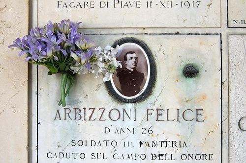 Arbizzoni Felice, a military man. Chimitero Monumental