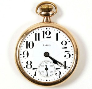 Clyde Barrow's 10 Karat gold 1925 Elgin pocket watch,