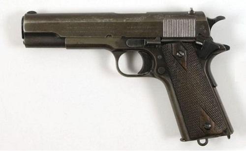 Clyde Barrow's Colt Model 1911 Government Model Semi-auto pistol