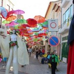 Stunningly beautiful umbrella installation in Agueda, Portugal