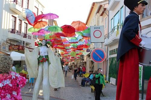 Beautiful installation of umbrellas